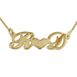 You and Me Necklace in Gold Plating