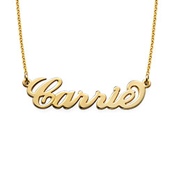 Gold Plated Tiny Name Necklace