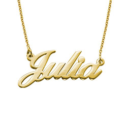 Tiny Stylish Name Necklace in Gold Plating