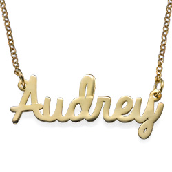 Cursive Name Necklace in Gold Plating
