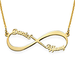 Gold Plated Personalized Infinity Necklace