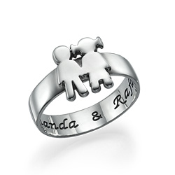 Kids Holding Hands Ring
