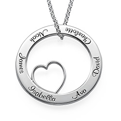 Personalized Love Circle Necklace