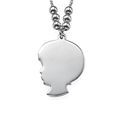 Boy Girl Necklace in Silver