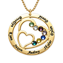 Gold Plated Forever in My Heart Personalized Necklace