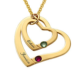 Gold Plated Floating Heart Necklace