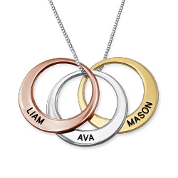 3 Color Multiple Ring Necklace