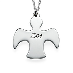 Guardian Angel Silver Necklace