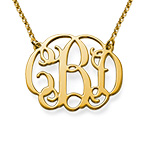 Monogram Necklace in Gold Plating