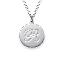 Initial Script Necklace