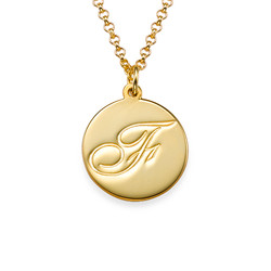 Initial Script Necklace in Gold Plating