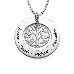 Cut Out Family Tree Necklace