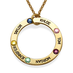 Gold Plated Circle of Life Necklace