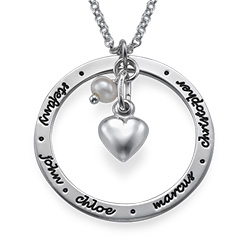 Forever Engraved Circle Necklace