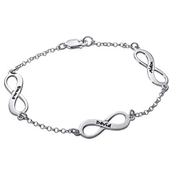 Multiple Names Infinity Bracelet