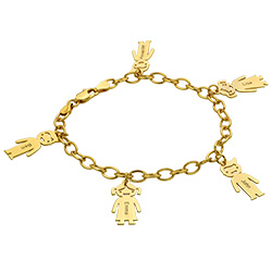 18k Gold Plated Engraved Kids Bracelet