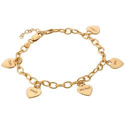 Charm Heart Bracelet in Gold Plating