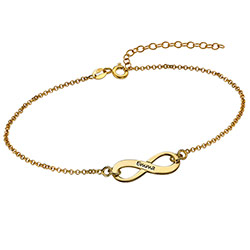 Classic Infinity Bracelet in Gold Plating