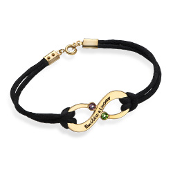 Infinity Cord Bracelet in Gold Plating