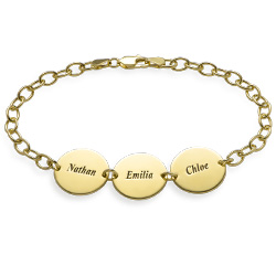 Disc Bracelet in Gold Plating