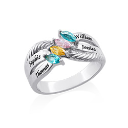 Sterling Silver Endless Love Mother Ring
