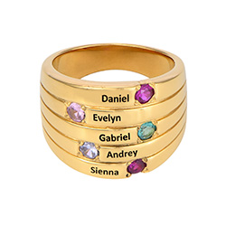 Happy Family Ring in Gold Plating