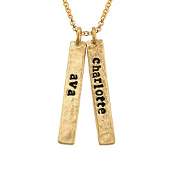 Vertical Bar Gold Plated Necklace