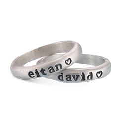 Eternity Stackable Silver Stamped Ring